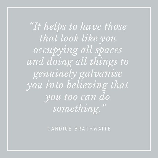 """""""It helps to have those that look like you occupying all spaces and doing all things to genuinely galvanise you into believing that you too can do something."""" - Candice Brathwaite⠀⠀⠀⠀⠀⠀⠀⠀⠀ ⠀⠀⠀⠀⠀⠀⠀⠀⠀ @candicebrathwaite continues to be one of my favourite Instagram accounts to follow. The year has only just begun and already Candice has achieved some incredible things, speaking on panels, doing paid promotions with brands and all the while being honest with her followers about what feels good and what is challenging. ⠀⠀⠀⠀⠀⠀⠀⠀⠀ ⠀⠀⠀⠀⠀⠀⠀⠀⠀ The advice that I take from Candice Brathwaite is that you have to believe in yourself, even when things seem to be going against you. Candice talks about her big goals and dreams, even when things don't work out quite how she had hoped. Two of her recent posts really sum this up. The first is a post on Instagram about her being turned down for a blue tick, being told she wasn't important enough. Instead of seeing this as a failure, Candice took it as a call to work harder. The second post was from her blog where Candice reflected on her two Tea Time live events that took place a year apart. One was in the basement of a venue in Crystal Palace, the other, held a year later, at Mortimer House, a very swanky venue in central London. Candice took the energy from the success of her first event, knew that she could make it bigger and better and worked towards doing it. She was gracious about the things that she hadn't done well or could have done differently, and she used these to make a plan. Believing in her vision and putting the work in to make that second event a huge success. I love this approach Candice has towards to her work and I hope to channel a little bit of it for myself in 2019. ⠀⠀⠀⠀⠀⠀⠀⠀⠀ ⠀⠀⠀⠀⠀⠀⠀⠀⠀ What area of your work do you need to have more belief in yourself about?⠀⠀⠀⠀⠀⠀⠀⠀⠀ ⠀⠀⠀⠀⠀⠀⠀⠀⠀ #candicebraithwaite #makemotherhooddiverse #papab #inspiringwomen #confidentwomen #careeradvice #lifeadvice #strongwomen #unconventionalme"""
