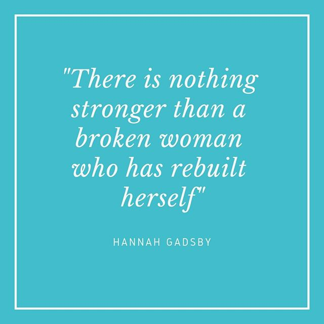 """""""There is nothing stronger than a broken woman who has rebuilt herself"""" - Hannah Gadsby⠀⠀⠀⠀⠀⠀⠀⠀⠀ ⠀⠀⠀⠀⠀⠀⠀⠀⠀ One of my favourite Unconventional Mentors is @hannah_gadsby who I featured right back at the beginning of this project in September last year. Her show Nanette was one of the most powerful things I have watched, and it makes me cry every time I rewatch it. Excitingly, she has written a new show called Douglas, """"Who is Douglas? Well, apparently, Gadsby thinks he is the only one who can help her follow up on the trail blazed by her last show: Nanette."""" I've signed up to be notified when the UK dates are announced and I'm so excited to see what she does next. ⠀⠀⠀⠀⠀⠀⠀⠀⠀ ⠀⠀⠀⠀⠀⠀⠀⠀⠀ The advice that I take from Hannah Gadsby is that your story has value and should be told.  The whole premise of Nanette (without spoiling it for you) is that for a long time Hannah's comedy has been rooted in being self-deprecating, but this really isn't a healthy thing to do. The big reveal of the show is that Hannah has been telling the stories of her life as jokes, but only sharing half of the story. Rather than dealing with the trauma she has faced, she turned it into a joke, and she is now realising that this is not serving her. Towards the end of the show she shares the true outcomes of the jokes she had shared at the start and it reduced me to tears. Hannah has realised that her story has value, that it deserves to be heard. She tells us that all of our stories deserve to be heard, particularly as there may be someone out there who relates to our story and upon hearing it, seeing how we live our lives, they might just feel less alone. ⠀⠀⠀⠀⠀⠀⠀⠀⠀ ⠀⠀⠀⠀⠀⠀⠀⠀⠀ I have loved revisiting some of the Unconventional Mentors I have already featured in this project and I can't wait to share more with you. Have a fab weekend and see you on Sunday for my next Unconventional Mentor ⠀⠀⠀⠀⠀⠀⠀⠀⠀ ⠀⠀⠀⠀⠀⠀⠀⠀⠀ #Hannahgadsby #nanette #strongwoman #brokenwoman #pablopicasshole #funnywomen #tellyourstory #ins"""