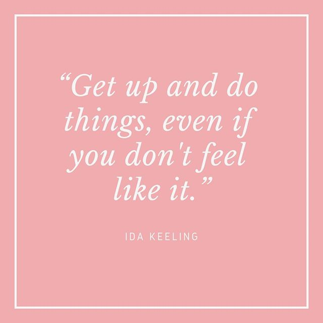 """""""Get up and do things, even if you don't feel like it."""" - Ida Keeling⠀⠀⠀⠀⠀⠀⠀⠀⠀ ⠀⠀⠀⠀⠀⠀⠀⠀⠀ Ida keeling is my exercise role model. She only took up running at 67 and she holds records in the 60m and 100m races for the 95-99 and 100+ age brackets. She set the record for 100 metre dash in 2014 running it in 59:80 seconds, and in 2016 she became the first woman ever to complete a 100 metre run at the age of 100.  She was featured in the HBO documentary If You're Not in the Obit, Eat Breakfast made by Carl Reiner who is also in his 90s. The documentary also features Iris Apfel who I wrote about earlier this week, and one of my favourite actors Dick Van Dyke who is in his 90s too. My theme this week is looking at people who are still very active in life in their 90s and all of these people make fantastic role models. ⠀⠀⠀⠀⠀⠀⠀⠀⠀ ⠀⠀⠀⠀⠀⠀⠀⠀⠀ What is remarkable about Ida is that she has faced a lot of hardship in her life, her mother died when she was young, her husband died when she was 42 leaving her with 4 children to look after, and she lost two of them to drug related killings in the 1970s. ⠀⠀⠀⠀⠀⠀⠀⠀⠀ ⠀⠀⠀⠀⠀⠀⠀⠀⠀ As someone who is not a morning person (I have a chronic illness that leaves me feeling fatigued all the time and I feel worst in the mornings) this advice really resonates. The quote goes on to say """"Sometimes you don't feel like doing this, that or the other. Do the thing that you don't like to do first, and get rid of it."""" It is a reminder that what we need to do and what we want to do aren't always going to be the same thing, but if you get the thing you need to do out of the way then you can enjoy the rest of the day. What is the one thing you never feel like doing but know you have to? #Idakeeling #runningat103 #100meterdash #dickvandyke #carlreiner #fYou'reNotintheObitEat Breakfast #inspiringwomen #careeradvice #lifeadvice #hbo #getupandgo #irisapfel #spoonie #spoonieproblems #hypothyroidism #fatigue #unconventionalmentors"""