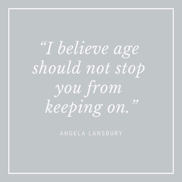 """""""I believe age should not stop you from keeping on."""" - Angela Lansbury ⠀⠀⠀⠀⠀⠀⠀⠀⠀ This week my Unconventional Mentors have been people who have continued to work or engage in new activities well into their 90s. I feel that there is so much pressure to be """"successful"""" (whatever that means) by the time you are 30 that we often forget that we have our whole lives to produce great work. ⠀⠀⠀⠀⠀⠀⠀⠀⠀ Angela Lansbury is one of my favourite actresses. I love Eglantine Price from Bedknobs and Broomsticks, I think I have always been drawn to strong, independent female characters who live on their own and her life in Pepperinge Eye in that lovely country house seemed idyllic. I loved her in Murder She Wrote, although I'm not sure I would want to live in Cabot Cove with all those murders going on!! One of the best instagram accounts is @murder_she_wore which is a digital love letter to Jessica Fletcher. Last year I went to see Mary Poppins Returns and was delighted to see that Angela Lansbury made an appearance in this too. Getting parts as you get older becomes harder and harder for women, but Angela Lansbury seems to have been able to transform and really own each phase of her career, a career which has spanned a whopping 8 decades. ⠀⠀⠀⠀⠀⠀⠀⠀⠀ I think what all of the Unconventional Mentors I have featured this week demonstrate is that age is just a number and that it is hard work and persistance that will pay off. I also think we need to remember that there is no time limit on being successful and starting new things. One of the conversations I have with my clients who are over 30 is whether or not they can change careers, and I think what these women show is that it is never too late to start something. How would you approach your work differently if you didn't give any thought to what your age meant? #angelalansbury #bedknobsandbroomsticks #murdershewrote #jessicafletcher #cabotcove #murdershewore #inspiringwomen #strongwomen #pepperingeeye #careeradvice #workinginyour90s #unco"""