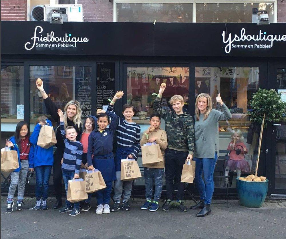 En de jonge toekomstige ondernemers in Amsterdam