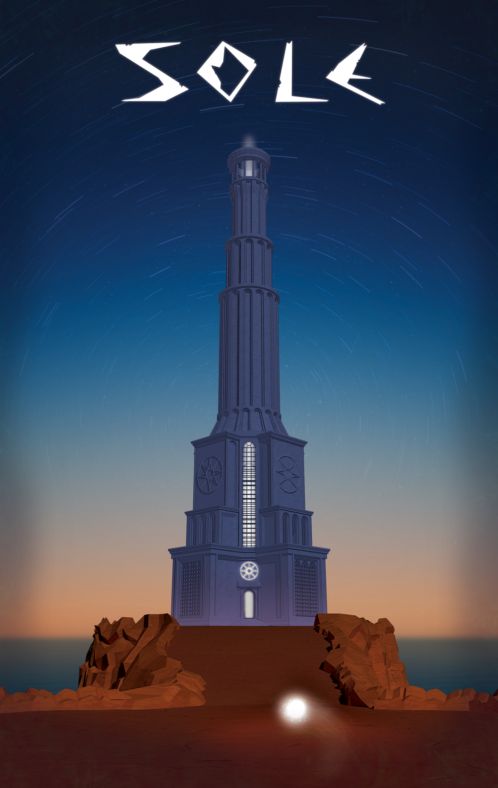 Sole Lighthouse Poster