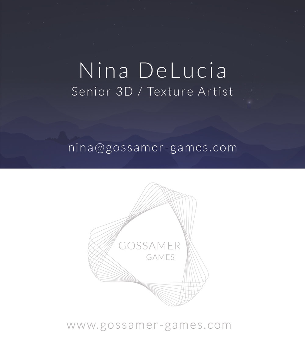 Gossamer Games Business Cards