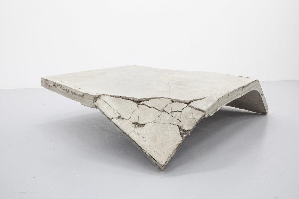 Running Nowhere, concrete, wool fabric, metal, 2016