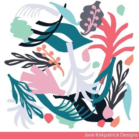Last one! @slowdownstudio competition entry #slowdownartcomp #janekirkpatrickdesigns #printandpattern #surfacedesign #scottishtextiledesign