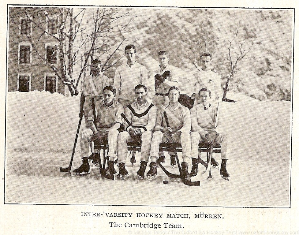 Cambridge team, Varsity match 1911, Murren, Switzerland