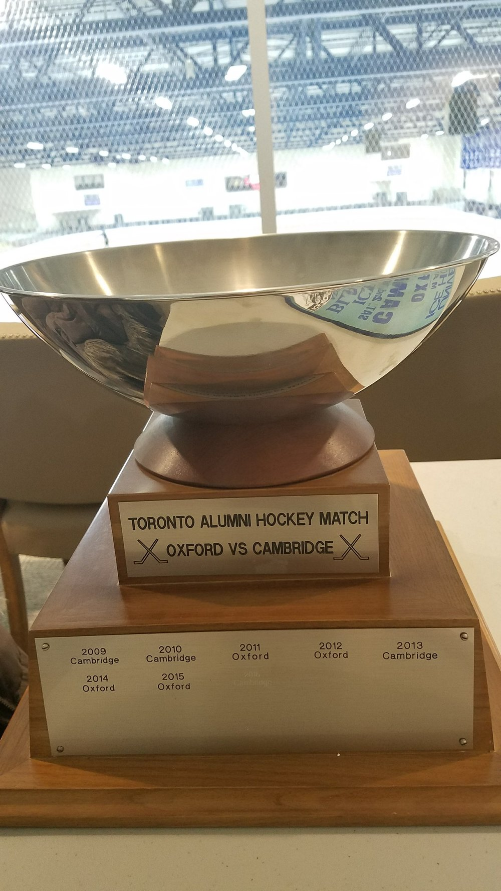 Cup for the winner of the Toronto Alumni game.