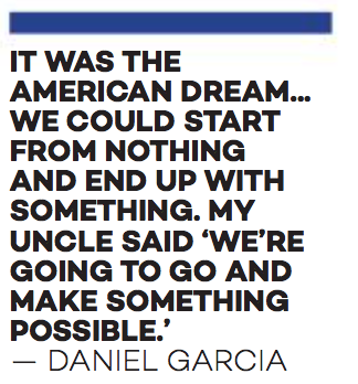 One of the many colorful quotes I received while working on this story. Junior Daniel Garcia is a Latino student whose family will be heavily affected by Trump's America.