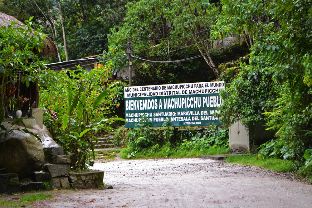 Entrance to Machu Picchu site