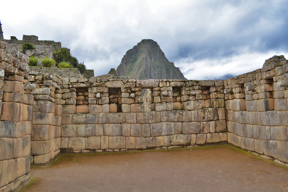 Inside of one of the Inca buildings