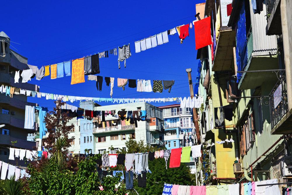 Srying laundry in Batumi