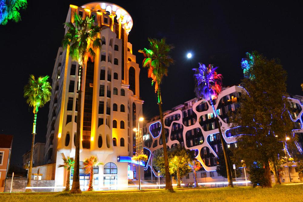 Batumi at night