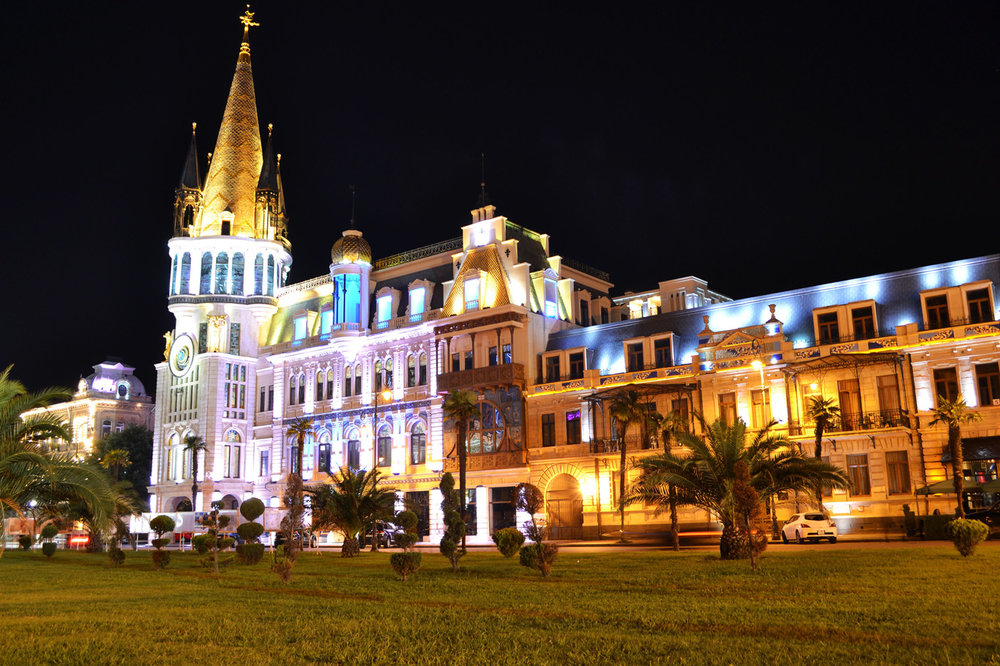 Batumi Old Town at night