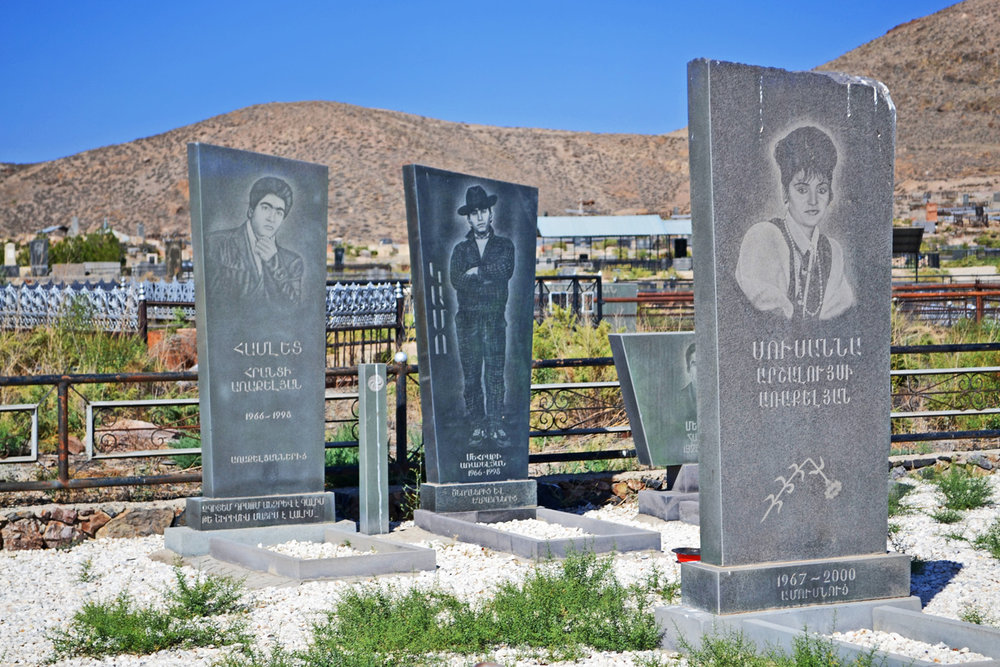 Armenian cemetery at Khor Virap