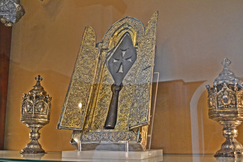 The spear that allegedly pierced Jesus's heart