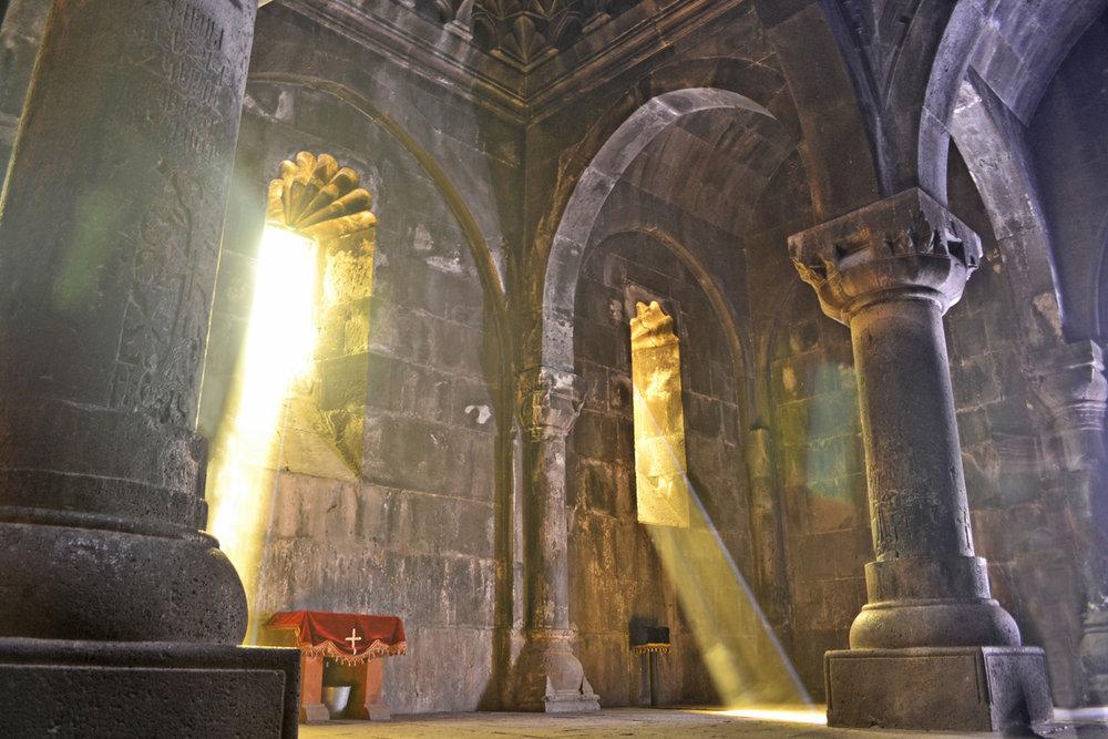 Inside of Geghard Monastery