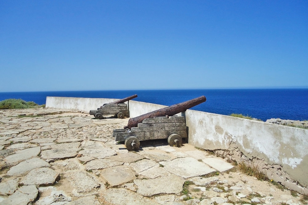 Canons at the fort in Sagres