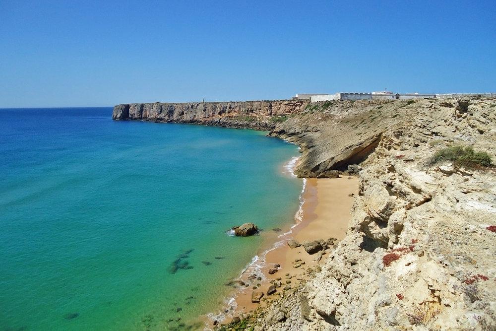 Quiet beach in Sagres