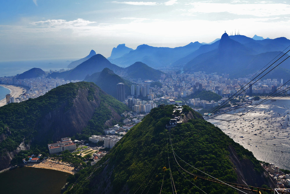 Cable car station in Rio