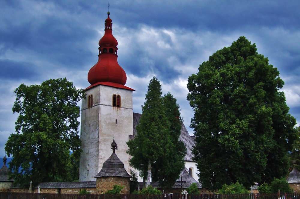 A church in Slovakian countryside