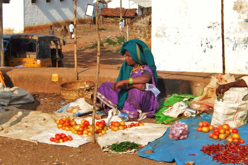 Food market in  Araku Valley
