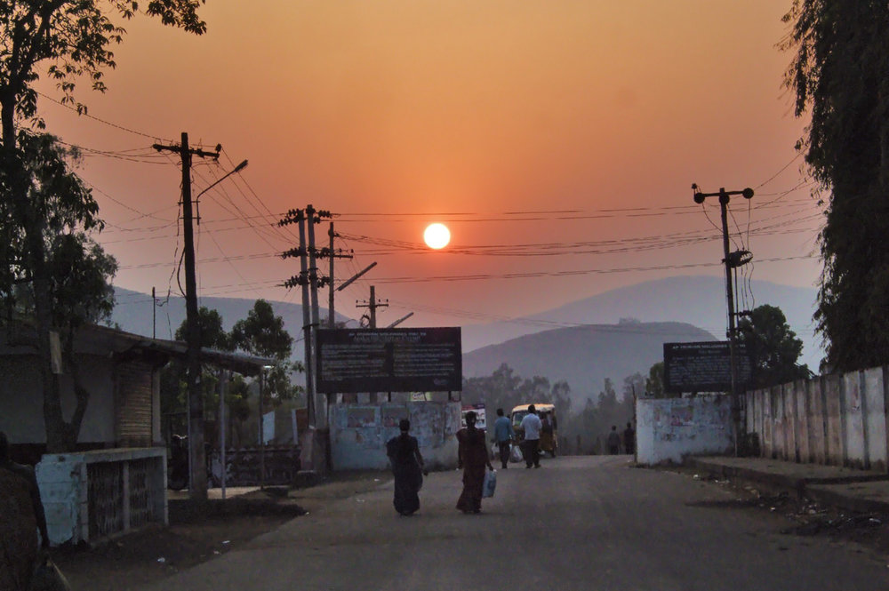 Sunset in  Araku Valley