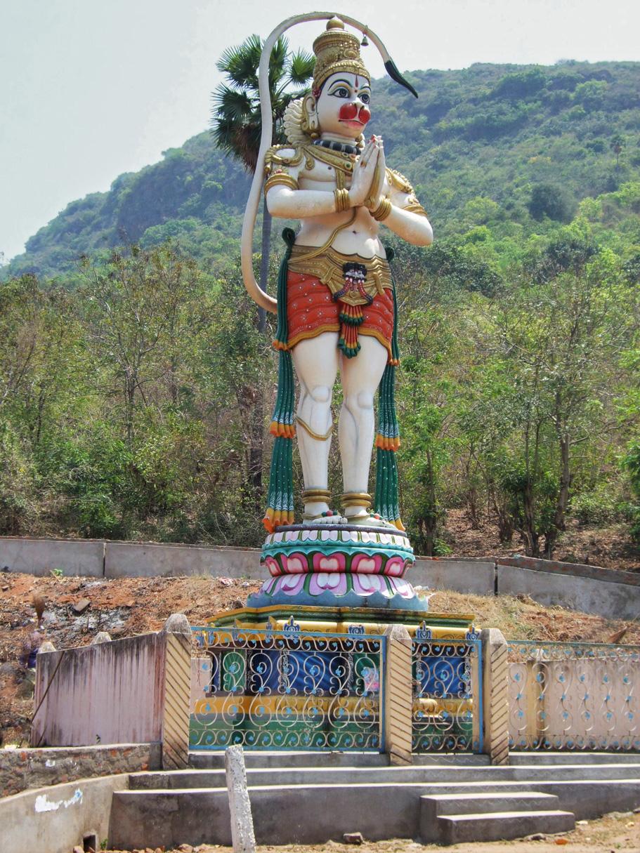 A statue of a Hindu God