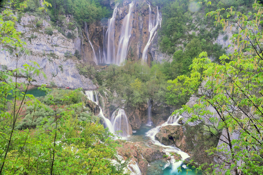 The tallest waterfall in Plitvice Lakes National Park