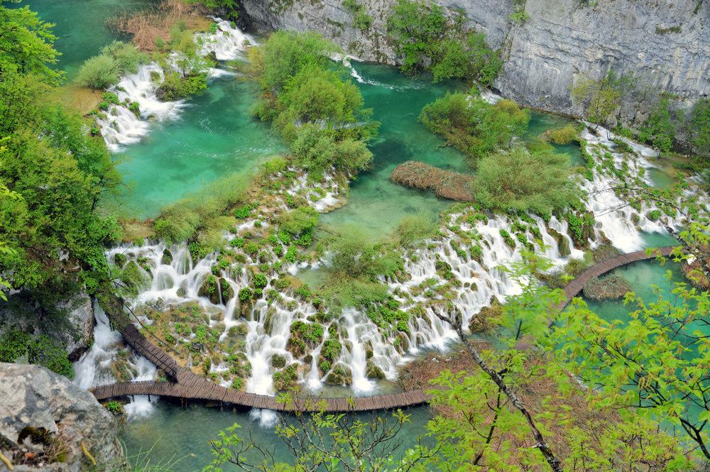 Cascades-Lakes in Plitvice National Park