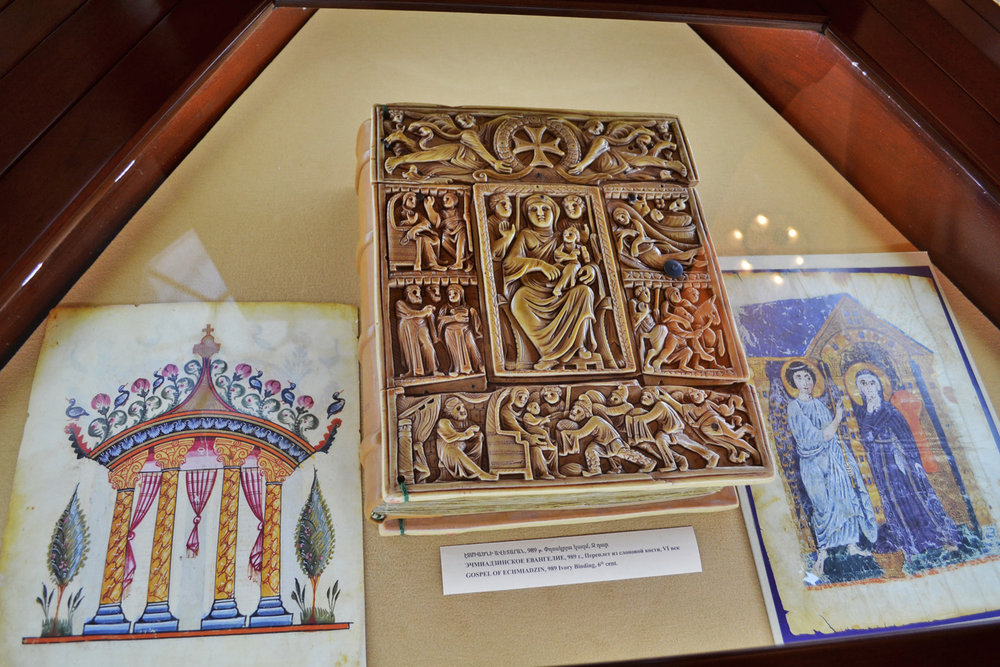Gospel of Echmiadzin, Ivory binding, 6th century