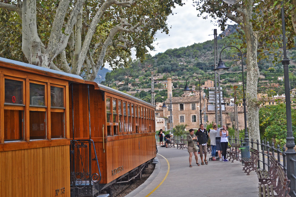 The old style Ferrocarril de Soller Train