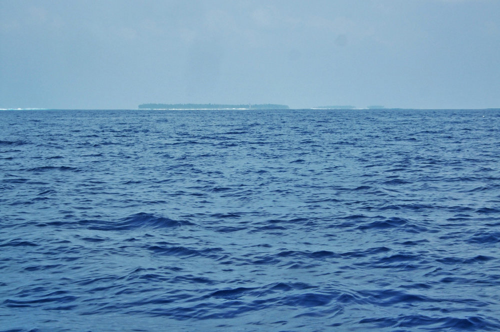 Lakshadweep Islands on the horizon