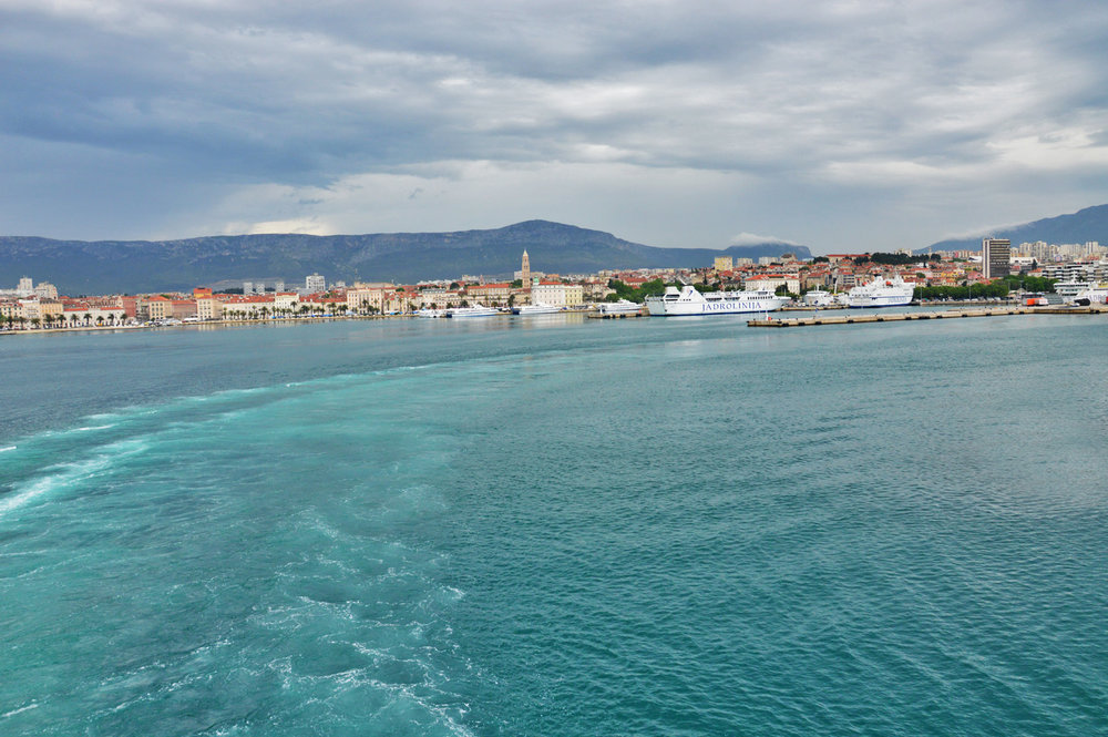 Split, Croatia - View from a ferry to  Brac Island