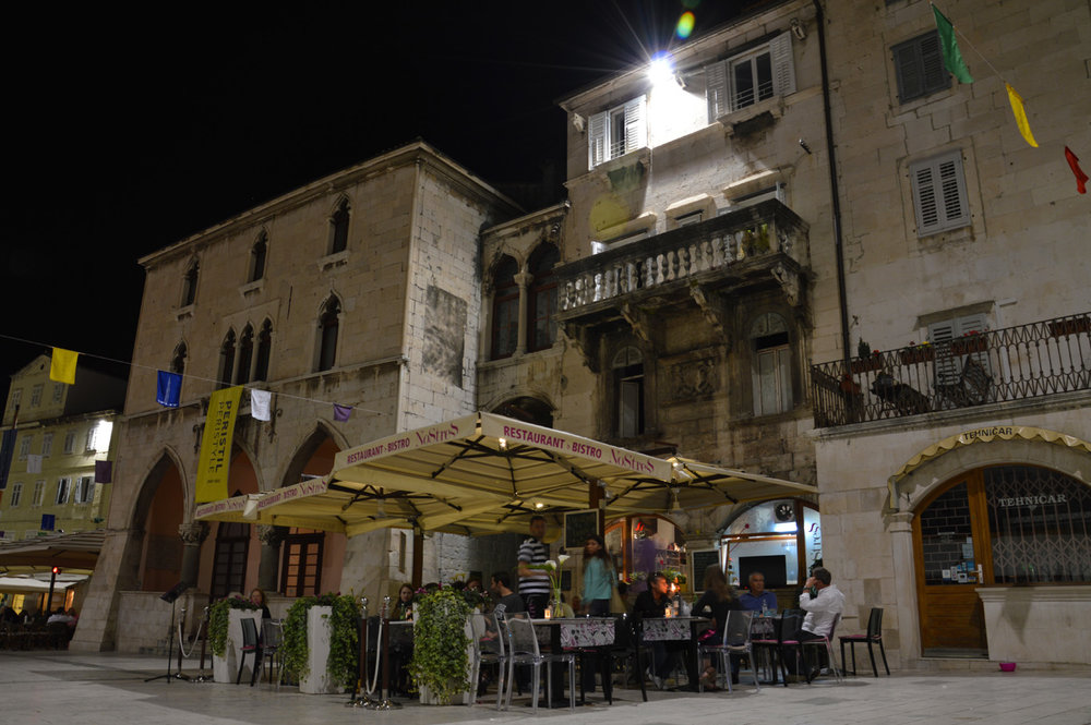 Split, Old Town at night