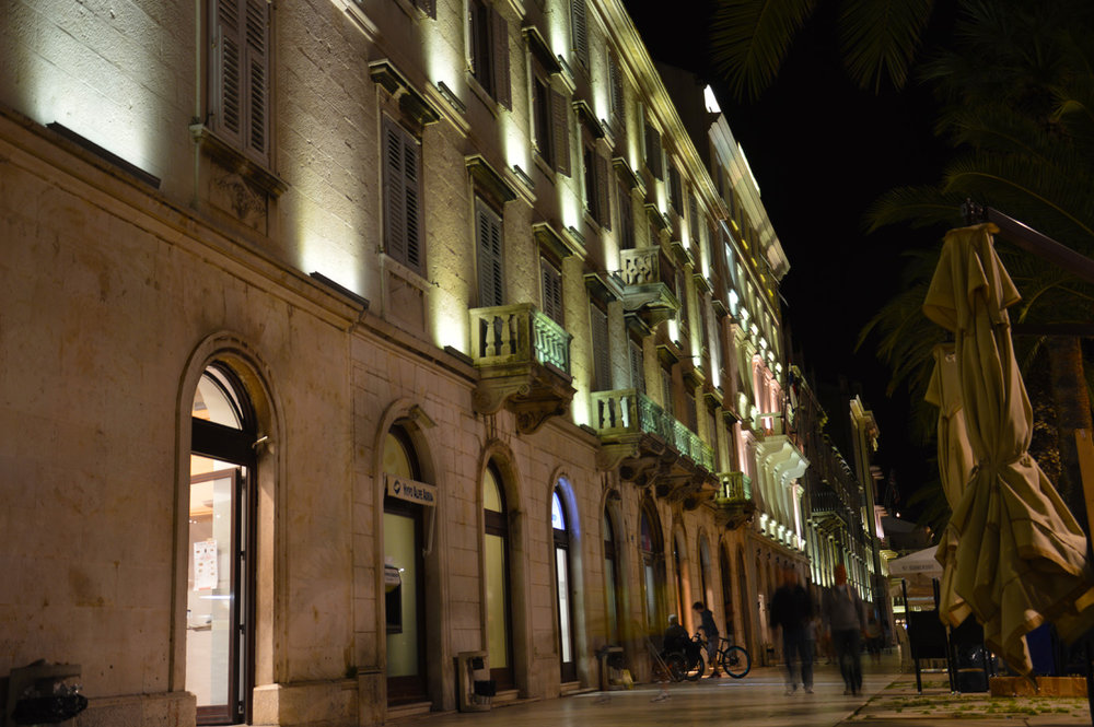 Split, Croatia - The Promenade at night