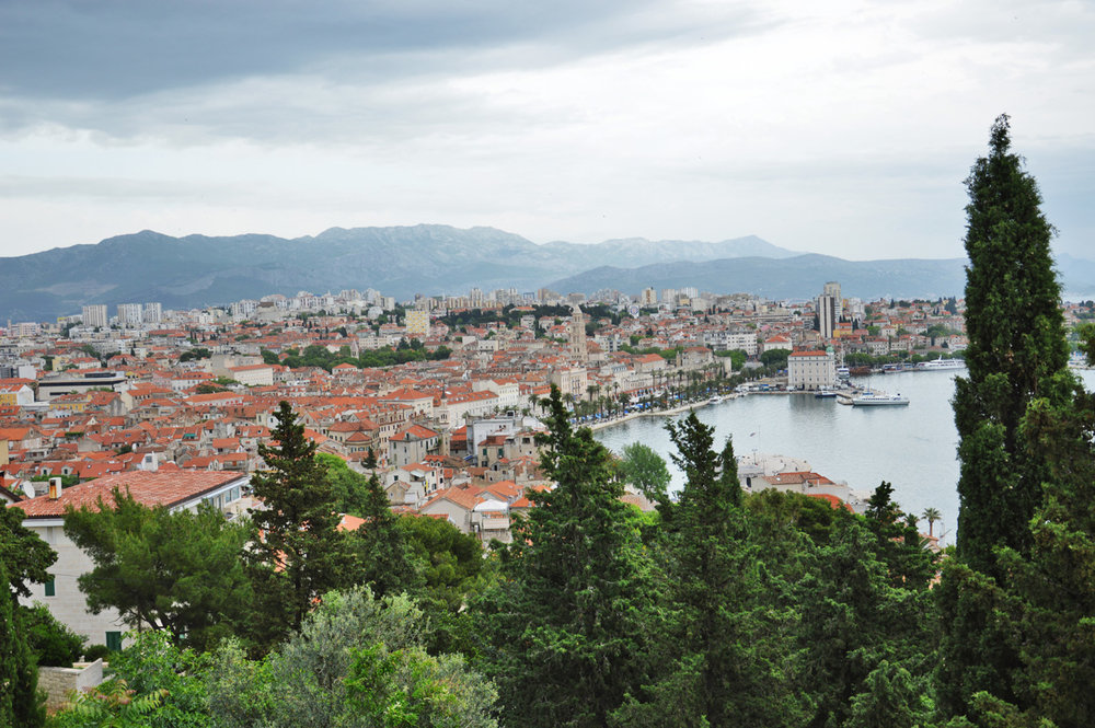 Split, Croatia - view from Marjan Hill