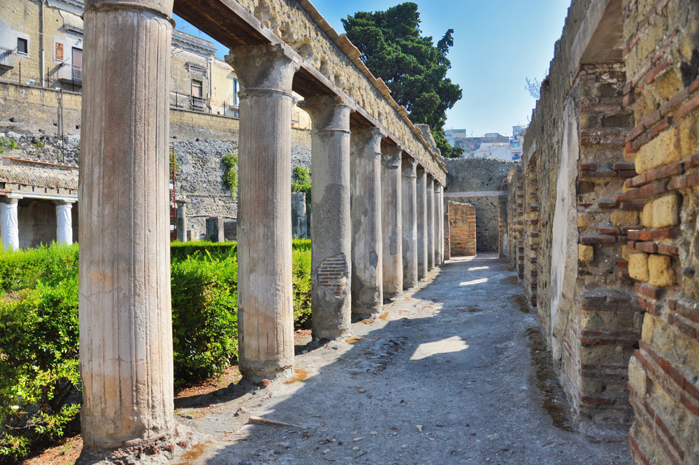 One of the streets in Herculaneum