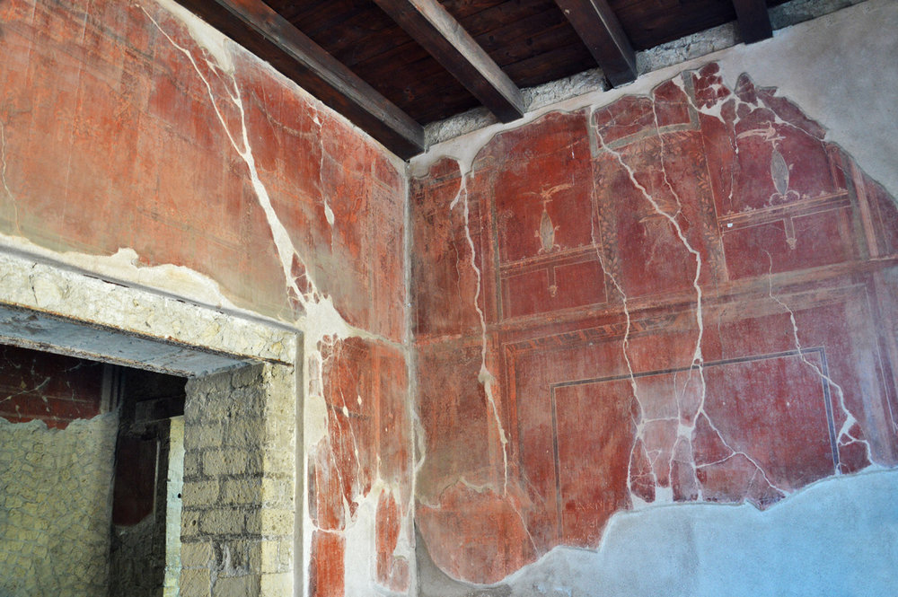 Frescoes in Herculaneum