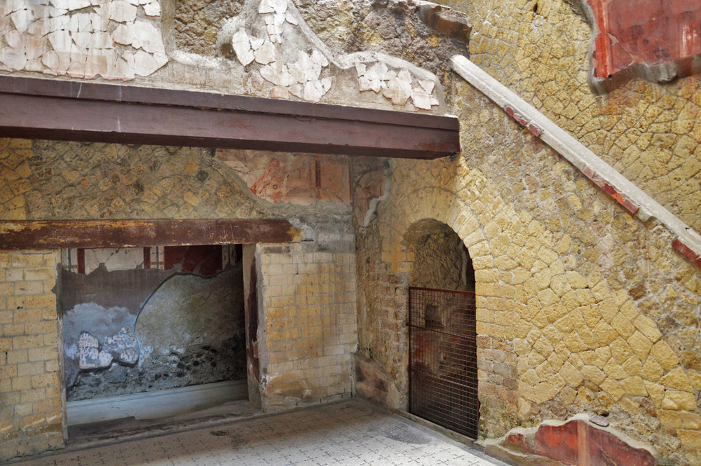 In one of the houses, Herculaneum