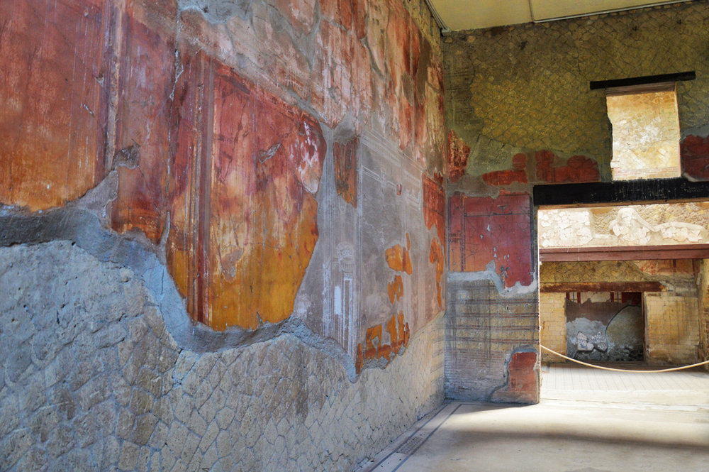 In one of the houses in Herculaneum