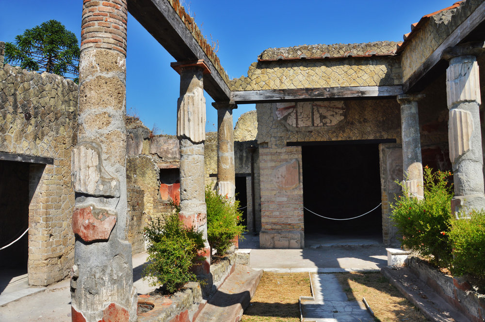 One of the houses in Herculaneum