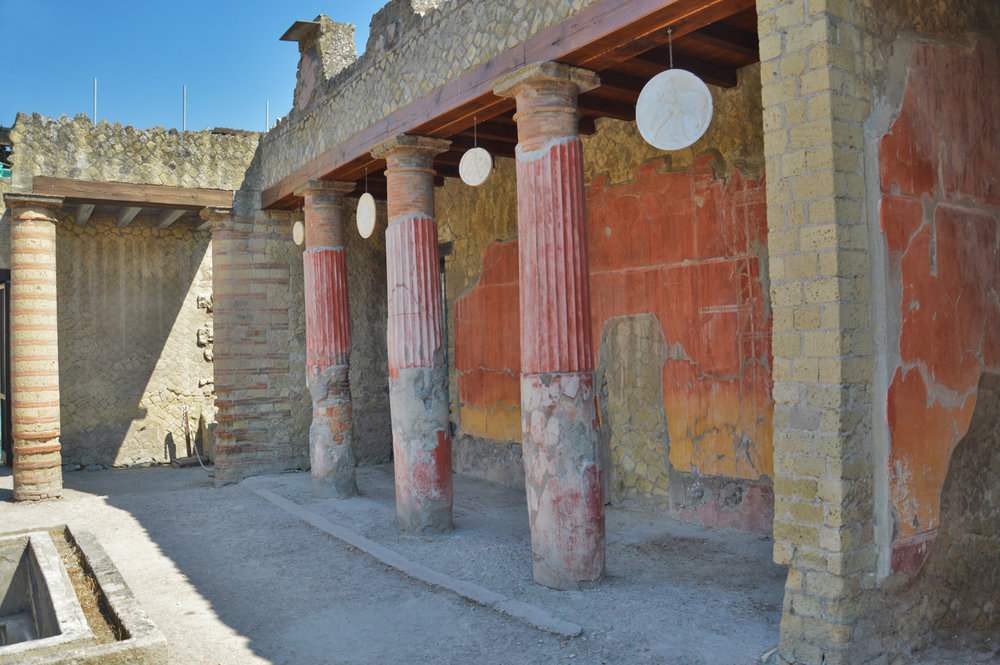 Beautifully decorated building in Herculaneum
