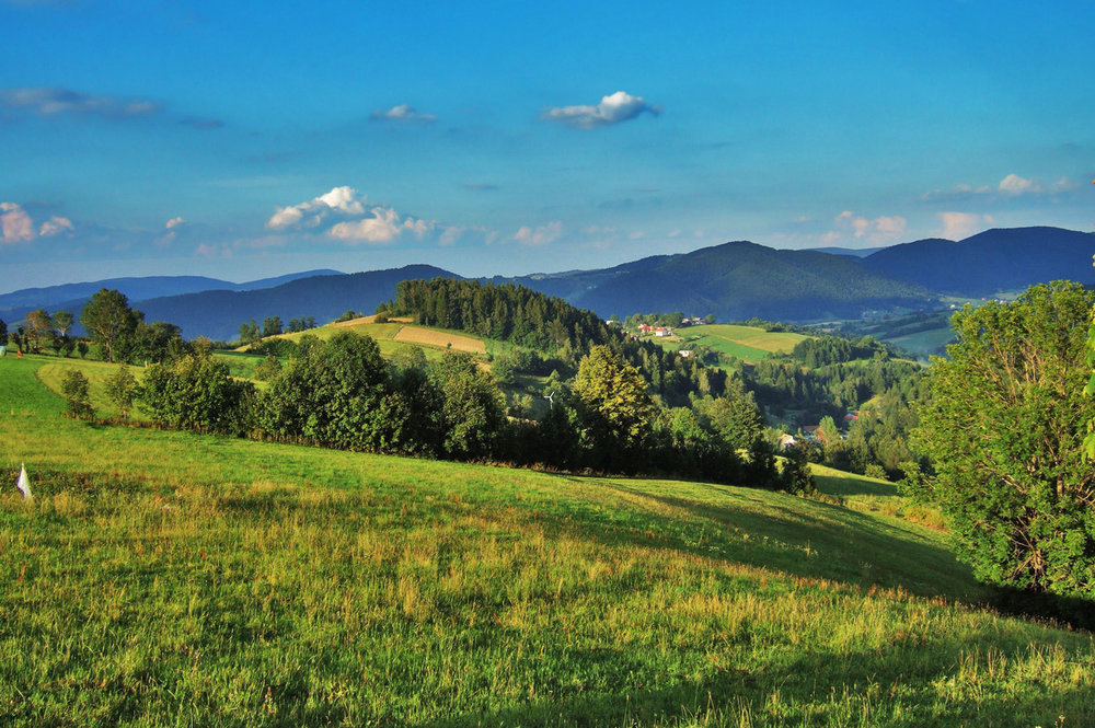 Typical scenery of Beskid Sadecki