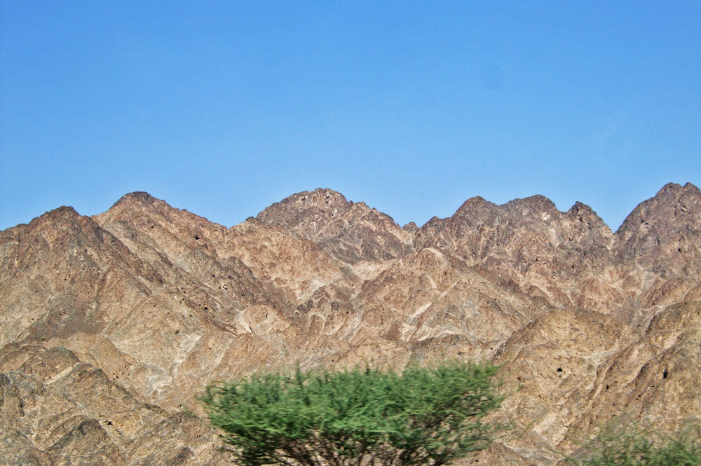 Barren landscapes in Oman
