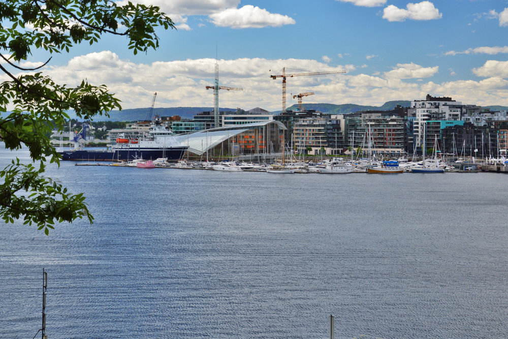 Oslo waterfront seen from the fortress