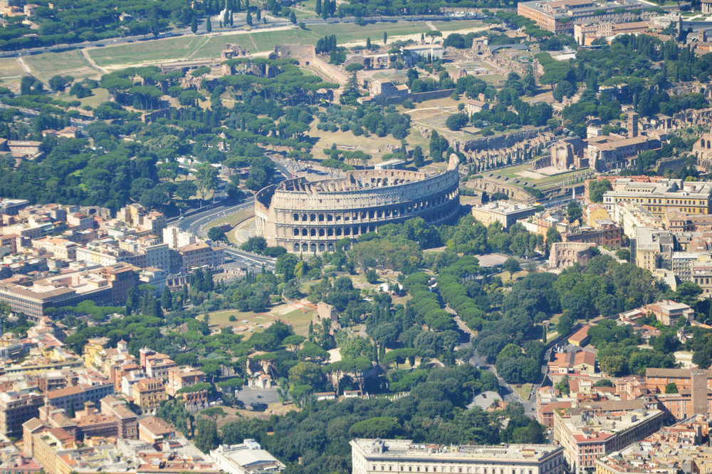 Colosseum right before landing - amazing view