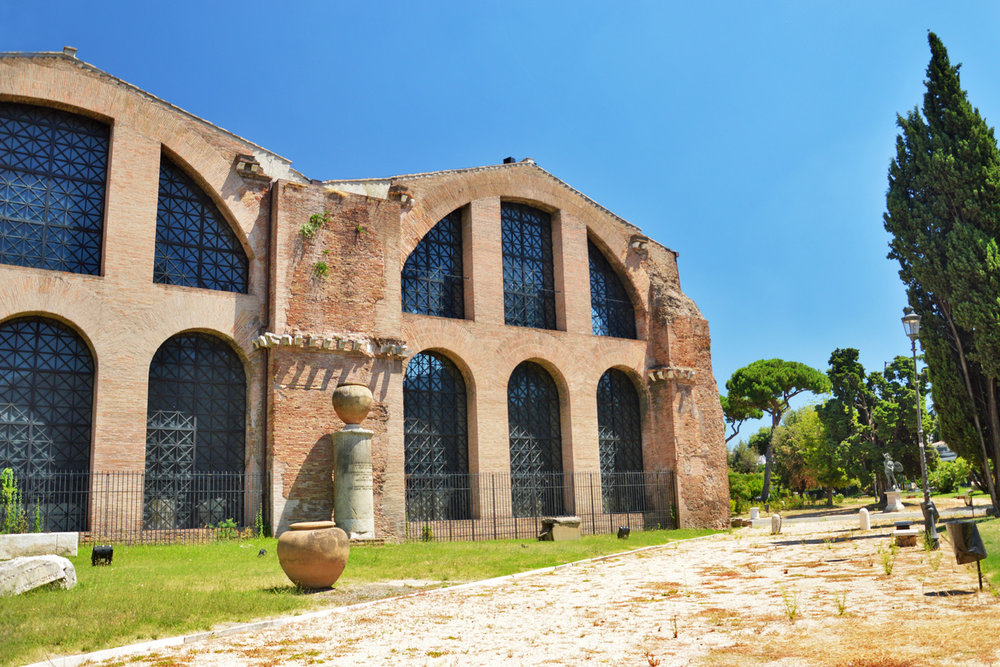 Ancient baths of Diocletian - now Basilica of St. Mary