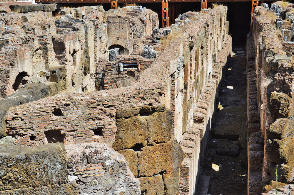The underground section of the Colosseum