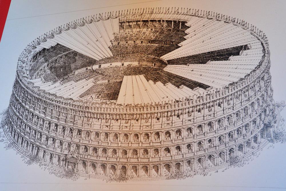 The original shape of the Colosseum