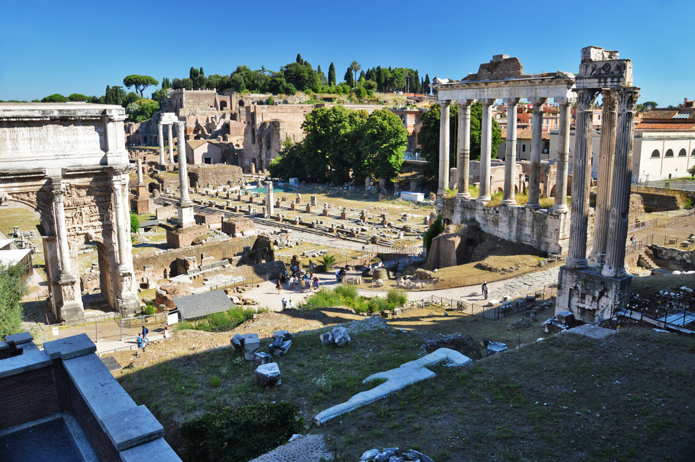 The view of the entire Roman Forum